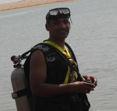 Scuba dive in Bay of Bengal